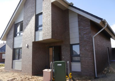 Einfamilienhaus - Dachtstuhl & Fassade